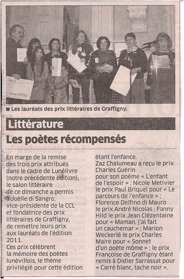 Prix littéraires de Graffigny dans Coupures de presse er-003
