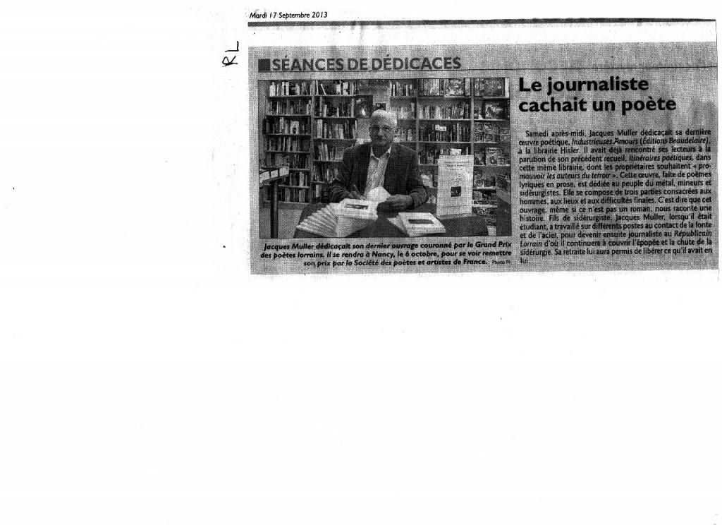 Article paru dans le Républicain Lorrain dans Coupures de presse rl-cultura1