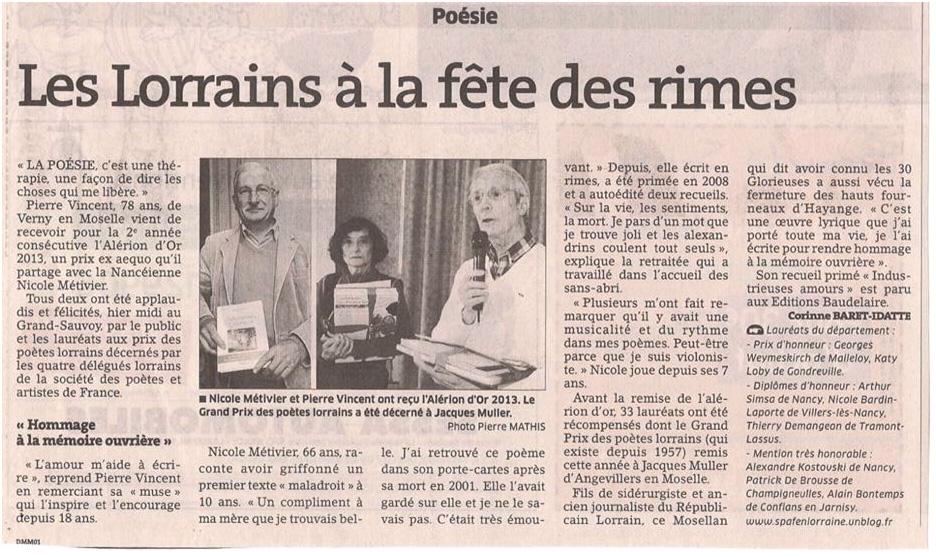 Grand Prix des Poètes Lorrains et Alérions dans Coupures de presse gppl-et-alerions